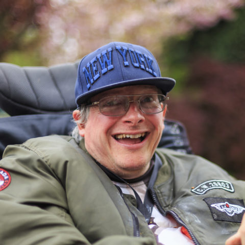 A photo of a participant smiling